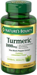 Nature's Bounty Turmeric Pills and Herbal Health Supplement