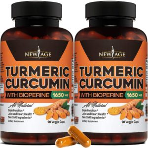New Age Turmeric Curcumin with Bioperine