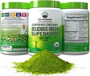 Peak Performance Organic Greens Superfood Powders